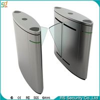 China factory access control pedestrian full height flap barrier