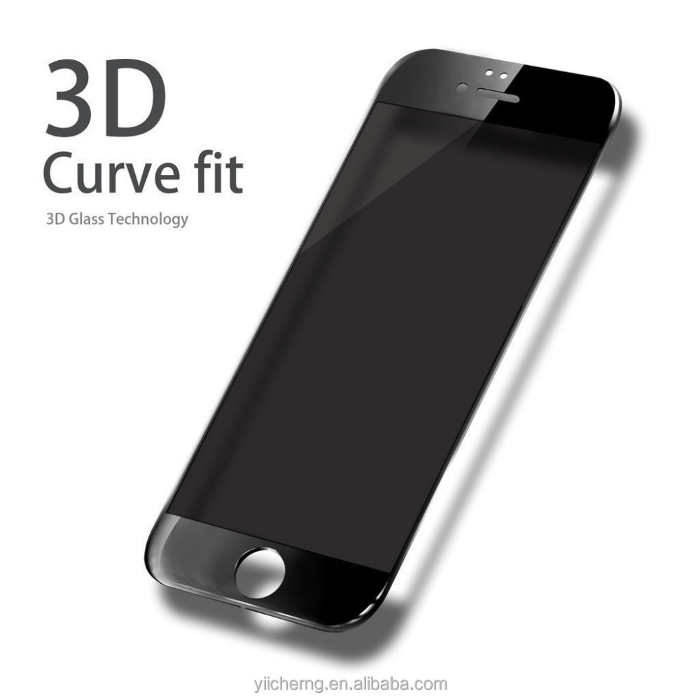 Full Screen Cover 0.18- 0.33 mm 3D Curved 9H Hardness Corning tempered glass color screen protector