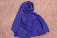 Fashionable voile pure color gold point scarf shawl hijabdesigner scarf wholesale china