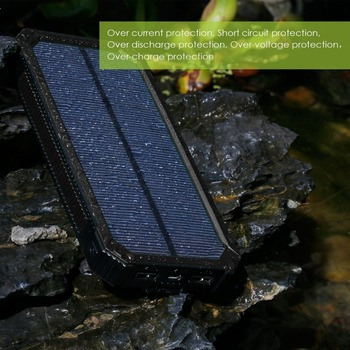 universal solar power bank for laptop, 8000mah battery charger solar power bank for all smart mobile phone