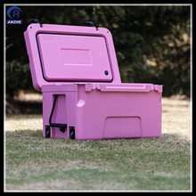 Food grade material wheeled Ice chest for catering use