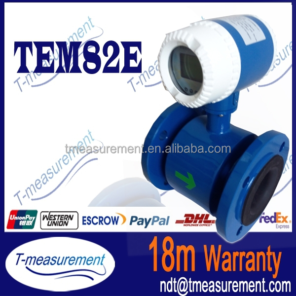 TEM82E Series flow meter electro magnetic flow meter with pulse