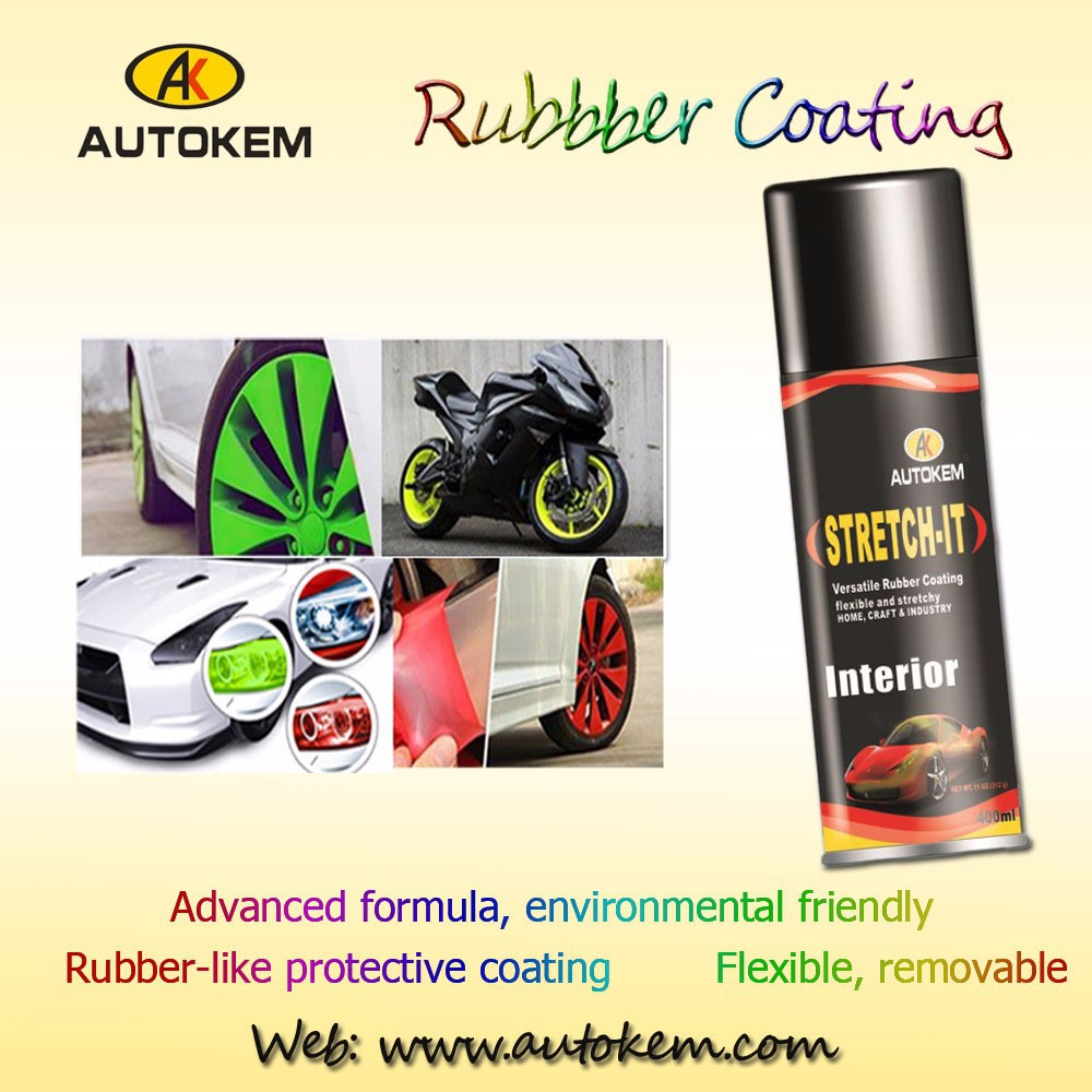 car wheel plastic rubber coating rims peelable rubber coating spray liquid rubber coating