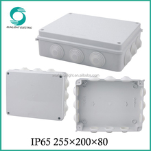 waterproof terminal electrical PVC connection box with pre-cut hole