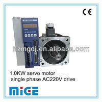 1.0KW servo motor and single phase AC220V drive
