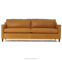 Cheap American style synthetic leather sofa antiqued finish living room sofa