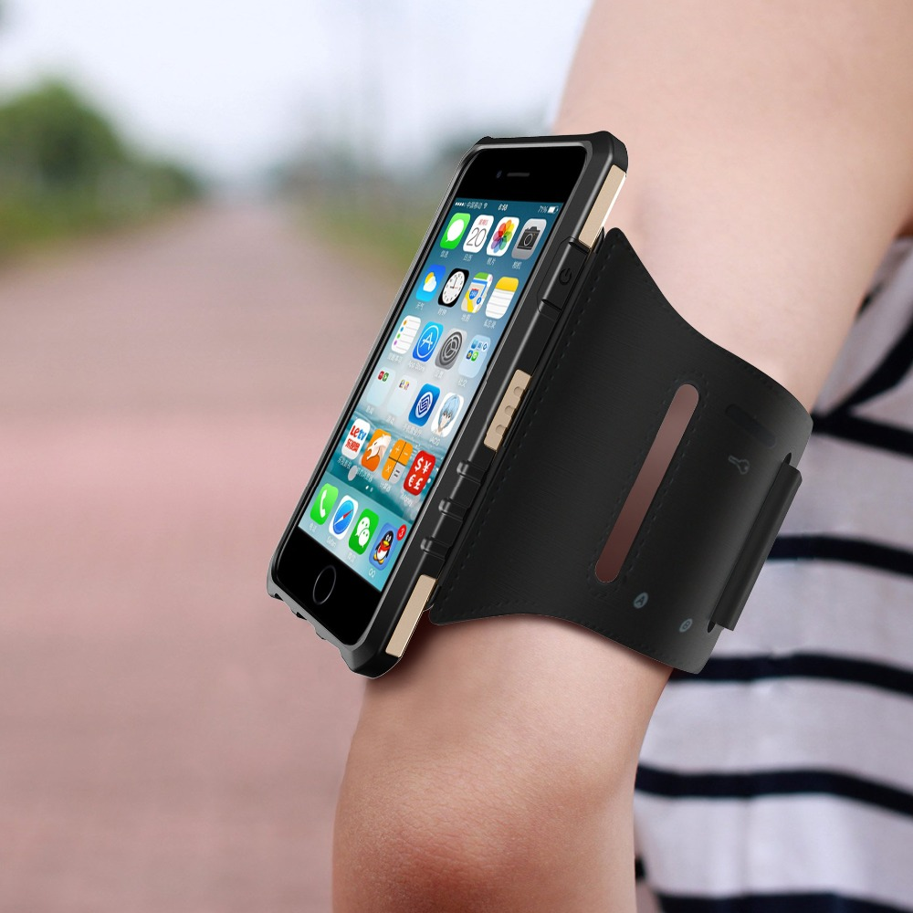 Multi-function Sport Running Reflective armband Strap cover Metal Hard PC+TPU Case with Car use GPS Magnetic holder for iPhone 8