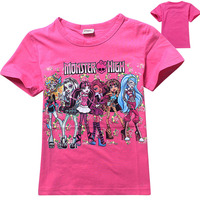 Europe And America Hot Selling New Monster High Clothes Cotton T-shirts Imported From China