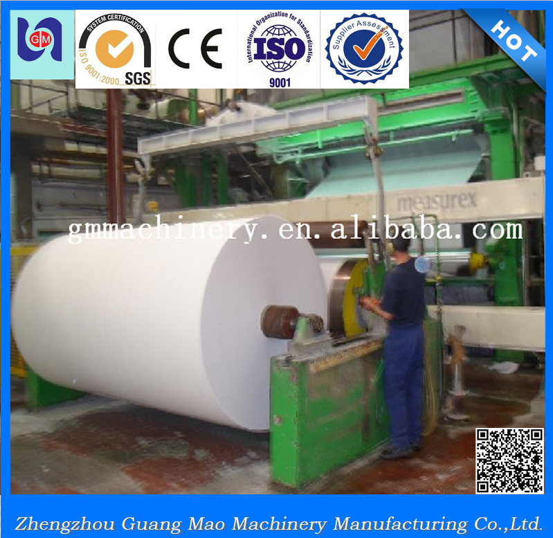 China brand name Guangmao printing paper making machinery, a4 paper exercise book manufacturing equipment production line