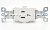 15A 125V 1 Gang Industrical Socket,Single Pole