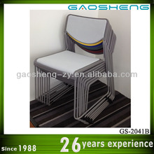 white plastic stacking chairs GS-2041B Japanese High Back Chair
