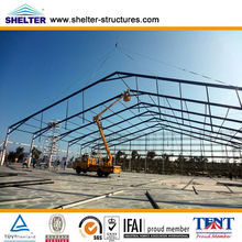polycarbonate roof structure