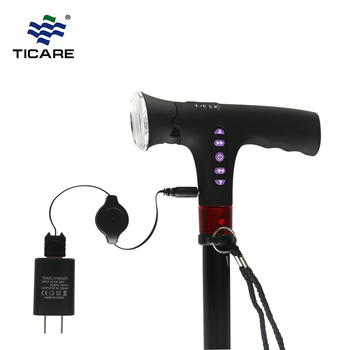 Aluminum Folding Walking Cane With LED Light with Radio with Alarm