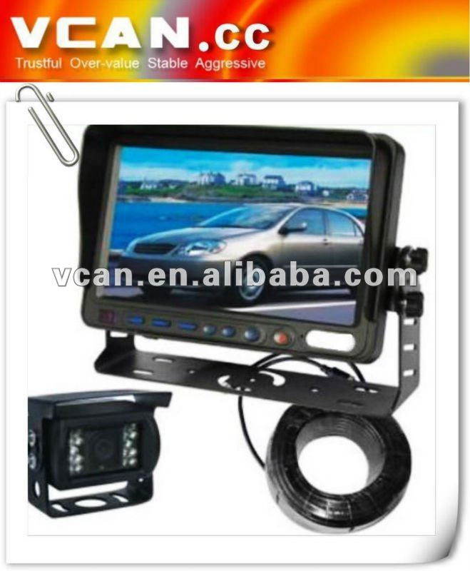 7 inch tft lcd digital screen monitor car with Removable sun Visor vcan0338