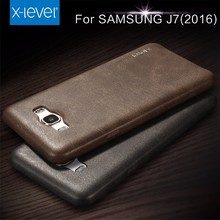 X-Level Customized LOGO Vintage PU Leather Mobile Phone Case for Samsung J7 2016 Back Cover