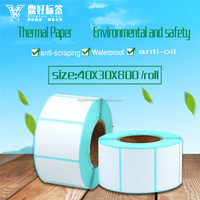 Brand style blank sticker thermal paper roll with high quality, China sticker label wholesale
