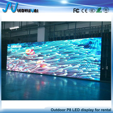 High quality full color P8 outdoor rental LED video display screen