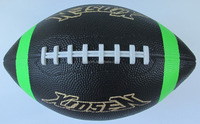 Xidsen Rubber Colorful American Football size 9,Bright Color Printing,Fluorescence color printing