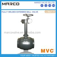 Professional supply caron and stainless steel material 100% fully welded ball valve with extend nipple or stem available