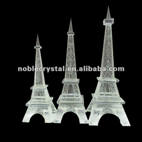 Noble Crystal Eiffel Tower with Five Sizes
