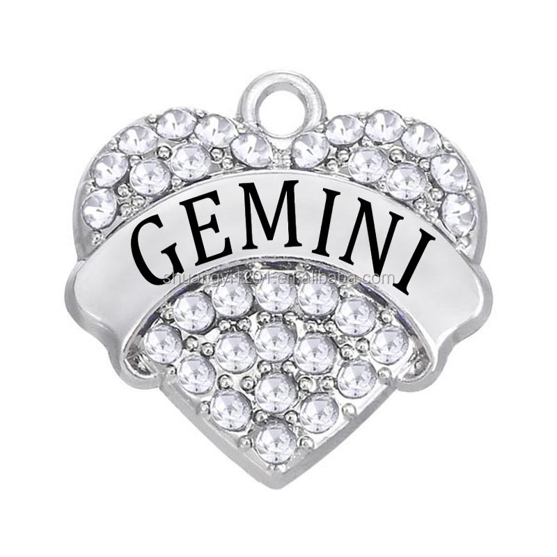 Bracelet Earring Necklace Making Custom Heart Gemini Name Pendant
