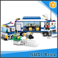 GUDI TOYS 399 PCS kids enlighten brick toys city police station building block