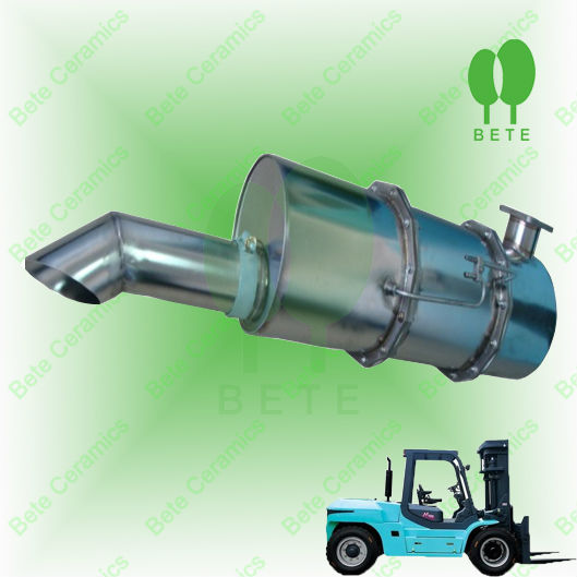 Fork truck catalytic diesel particulate filter