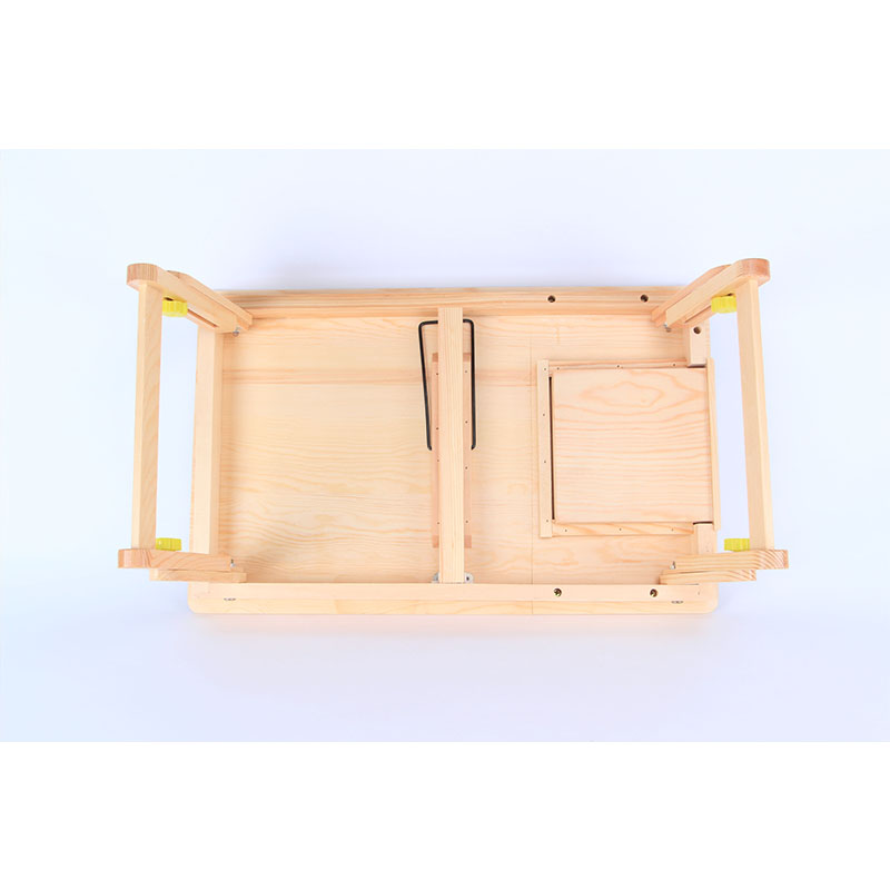 2018 hot sale customized beautiful pine wooden foldable laptop desk