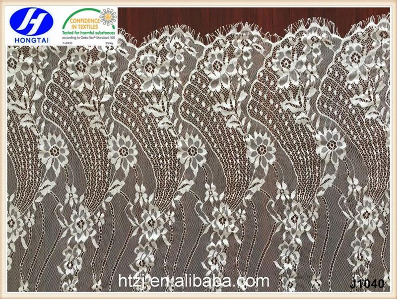 2016 new design Eyelash white Lace french fabric for wedding fashion dress