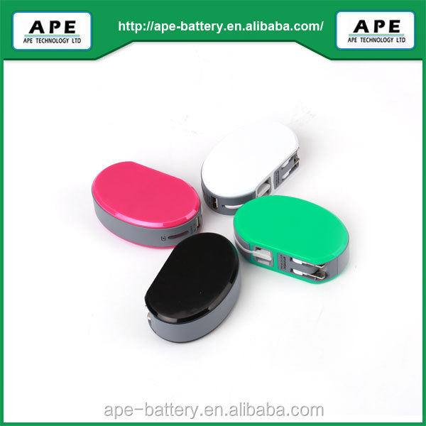 Portable Universal Battery Charger AC mobile power bank 2600mAh