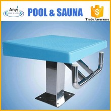 Swimming Pool FRP Blue One Step Starting Block For Swim Jumping
