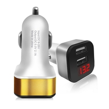 mobile phone accessories, 2.1A powerful usb car charger adapter, dual usb phone car charger