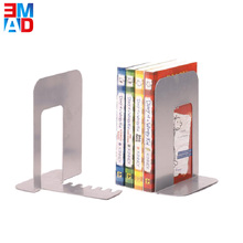 Office universal school desktop book holder metal silver modern bookends