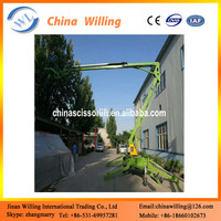 Two wheels truck mounted hydraulic boom Lift