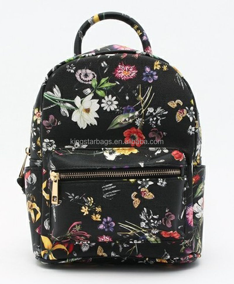 Beautiful Printing Girls PU Backpack