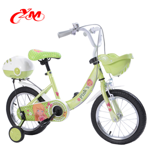 Alibaba hot sale bike for 10 year old child/12 inch girls bike children bicycle/green cute bicycle with basket and tool box