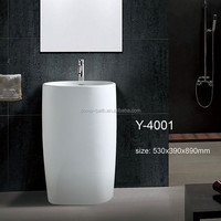 DOMO modern design white color pedestal antique sink basin