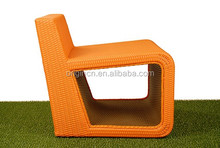 Modern Office Furniture artistic design with open frame to place magazines and bags for art shows and party beach chair
