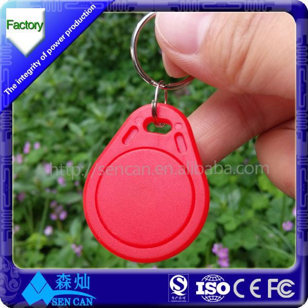 Fashion Sublimation Keychain Custom Rfid Key Fob Waterproof Ring Epoxy