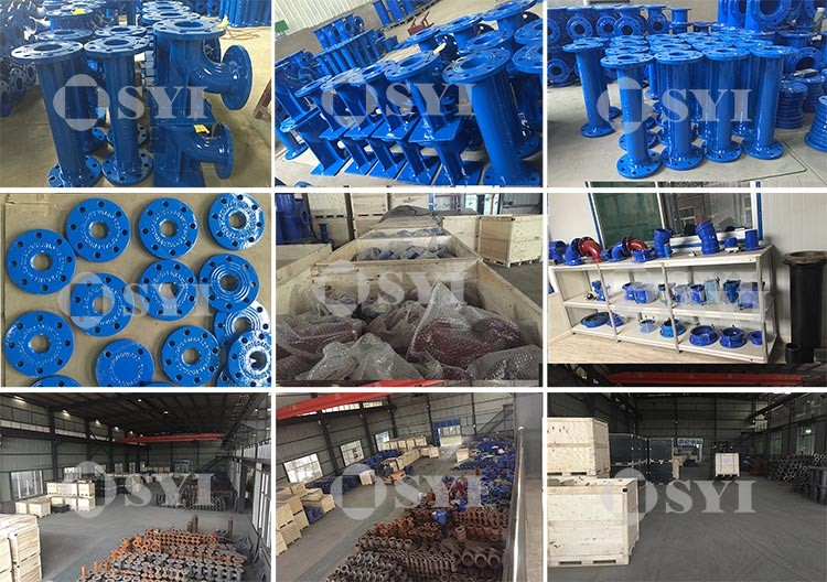 Ductile iron pipe fittings for PE Pipes
