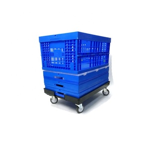 600*400*340mm PP material stackable moving plastic collapsible crates container for catering industry Transportation