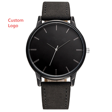 Retro Classic Mens Watch Own Logo OEM Your Own Brand Watches Custom Watches Leather Band Personal Design