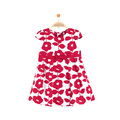New model one piece party dress cotton kids clothing girl fancy flower dress