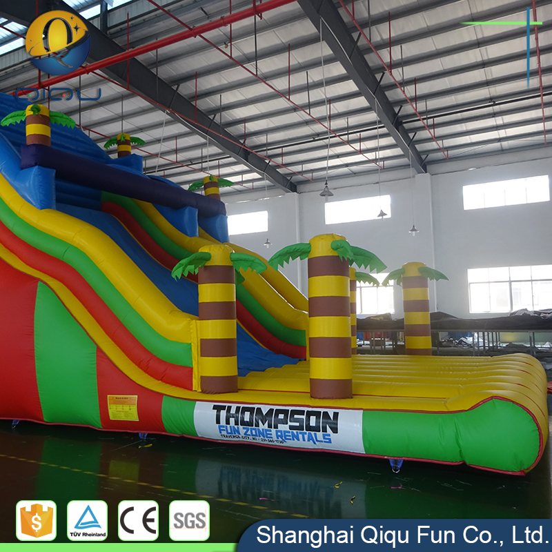 Ocean wave curved giant cheap inflatable jumper castle water slide