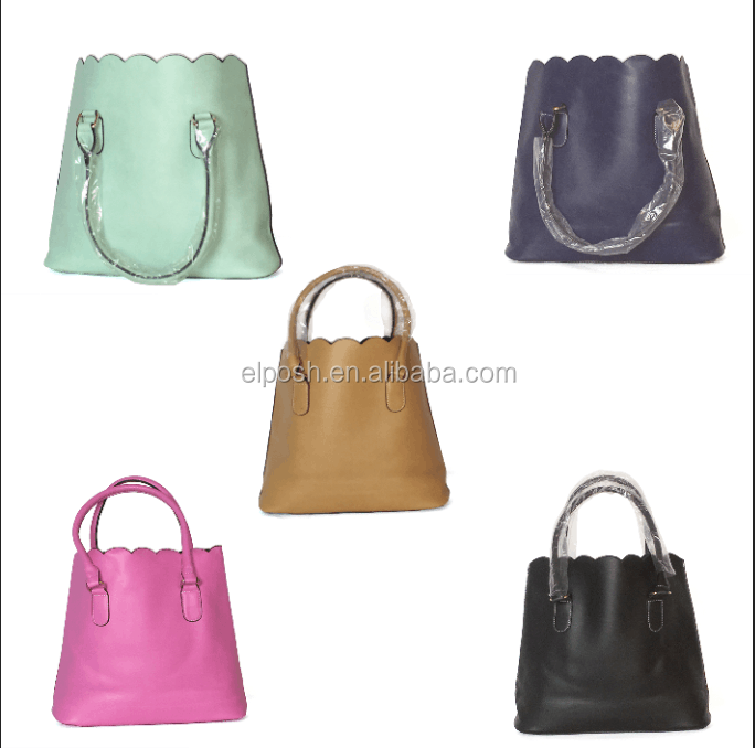 Wholesale Monogrammed Leather Scallop Handbag