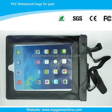 Cheap neck strap case for ipad 2/3/4/5 pvc waterproof case