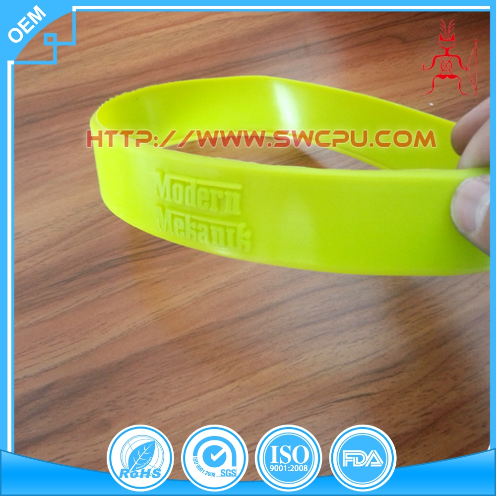 OEM custom flexible colored printed rubber bands