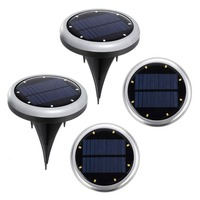 Garden Pathway Walkway LED Motion Ground Ball Solar Garden Lights Flashlights LED Lights with The Batteries
