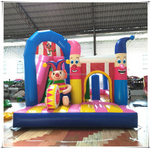 Funny Commercial Clown Jumping Bouncy Castle Combo Inflatable Bounce House For Kids