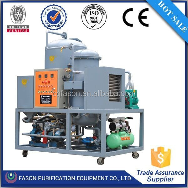 Gravity separating technology waste engine oil purifier